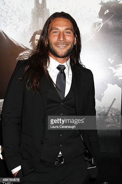 Zach McGowan attends 'Dracula Untold' New York Premiere at AMC Loews 34th Street 14 theater on October 6 2014 in New York City
