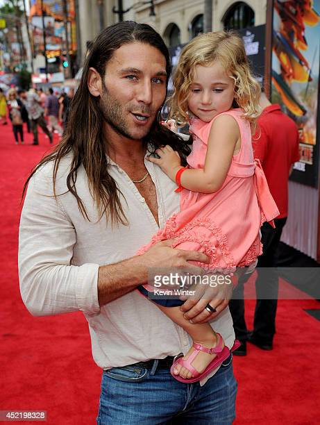 Zach McGowan attends the premiere of Disney's 'Planes Fire Rescue' at the El Capitan Theatre on July 15 2014 in Hollywood California