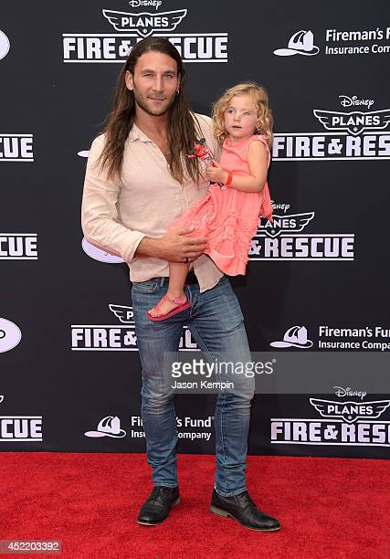 Zach McGowan attends the premiere of Disney's Planes Fire Rescue at the El Capitan Theatre on July 15 2014 in Hollywood California