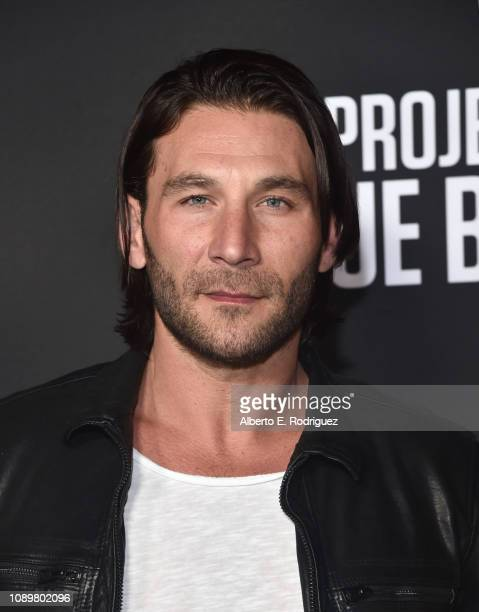 Zach McGowan attends the premiere of History Channel's Project Blue Book at Simon House on January 03 2019 in Beverly Hills California