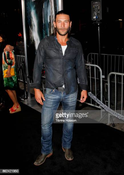 Zach McGowan attends the premiere of Warner Bros Pictures 'Geostorm' at TCL Chinese Theatre on October 16 2017 in Hollywood California