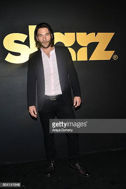 Zach McGowan attends the STARZ PreGolden Globe Celebration at Chateau Marmont on January 8 2016 in Los Angeles California