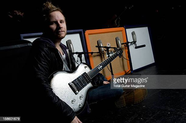 Zach Myers guitarist of American rock band Shinedown photographed during a portrait shoot for Total Guitar Magazine/Future via Getty Images February...