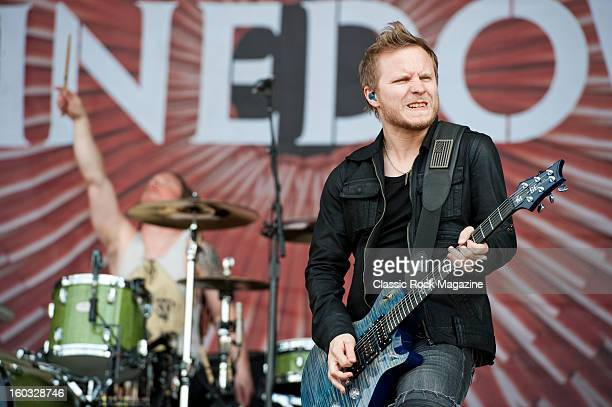Zach Myers of American rock band Shinedown performing live onstage at Download Festival June 10 2012