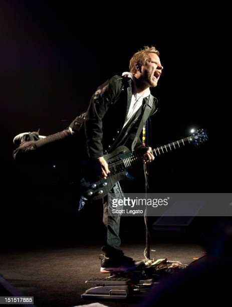 Zach Myers of Shinedown performs at DTE Energy Theatre on September 7 2012 in Clarkston Michigan