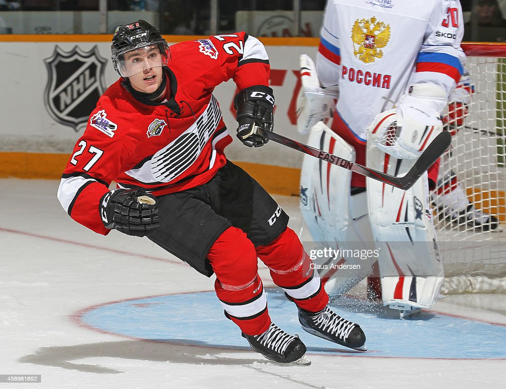 Zach Nastasiuk of Team OHL skates against Team Russia during
