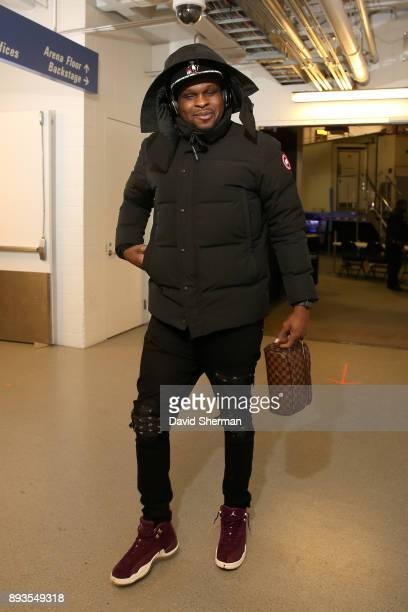 Zach Randolph of the Sacramento Kings arrives at the stadium before the game against the Minnesota Timberwolves on December 14 2017 at Target Center...