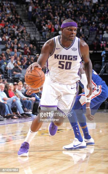 Zach Randolph of the Sacramento Kings drives against the Philadelphia 76ers on November 9 2017 at Golden 1 Center in Sacramento California NOTE TO...