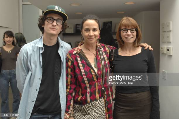 Zach Susskind Lisa Eisner and Jane Brown attend SHE Images of women by Wallace Berman and Richard Prince Opening at Michael Kohn Gallery on January...