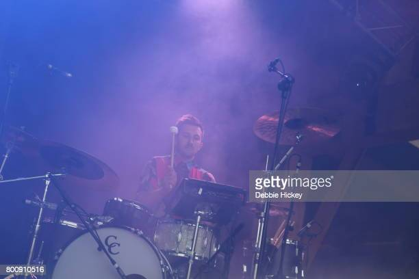 Zach Tetreault of Hundred Waters performs at Body Soul Festival at Ballinlough Castle on June 25 2017 in Co Westmeath Ireland