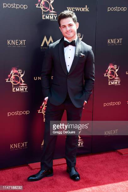 Zach Tinker attends the 46th annual Daytime Emmy Awards at Pasadena Civic Center on May 05 2019 in Pasadena California