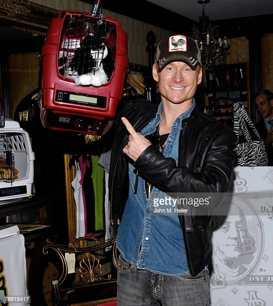 Zach Ward attends the Secret Room Celebrity Gifting Suite Day 2 for the 66th Annual Golden Globe Awards at Metro Couture on January 11 2008 in West...