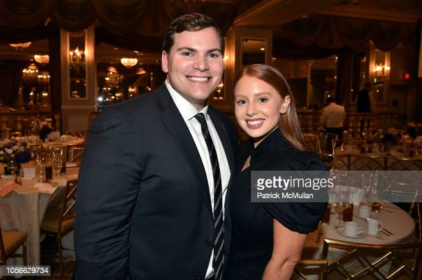 Zach Weinreb and Jackie Oshry attend Alzheimer's Drug Discovery Foundation's Ninth Annual Fall Symposium Luncheon at the Pierre Hotel on November 9...