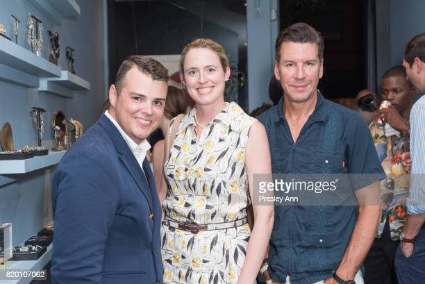 Zach Weiss Anne Huntington and Peter Davis attend Lulu Frost Opening Celebration at Lulu Frost on July 20 2017 in New York City