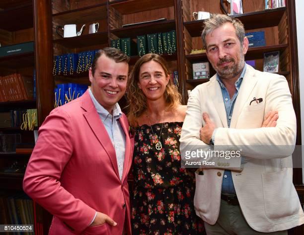 Zach Weiss Vanessa von Bismarck and Nick Sullivan attend Huntsman's New NYC PiedaTerre Opening at 130 West 57th st on June 27 2017 in New York City