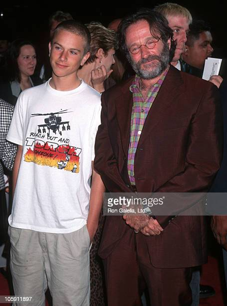 Zach Williams and Robin Williams during Premiere of Father's Day at Los Angeles in Los Angeles CA United States