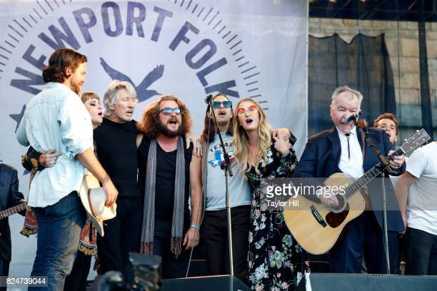 Zach Williams Jess Wolfe Roger Waters Jim James Margo Price and John Prine perform at Fort Adams State Park on July 30 2017 in Newport Rhode Island