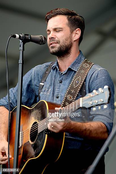 Zach Williams of The Lone Bellow performs onstage during Pilgrimage Music Cultural Festival on September 27 2015 in Franklin Tennessee