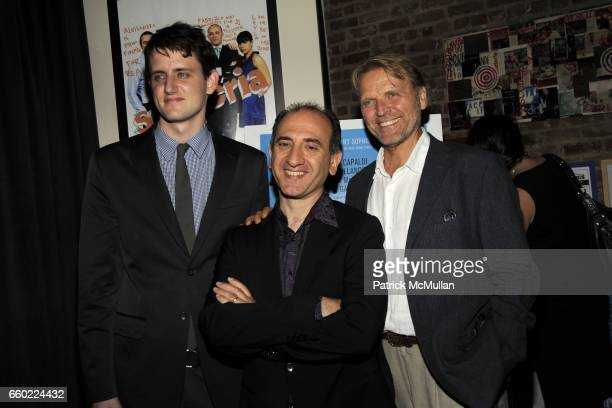 Zach Woods Armando Iannucci and David Rasche attend THE CINEMA SOCIETY THE NEW YORKER host the after party for 'IN THE LOOP' at Scuderia on July 13...