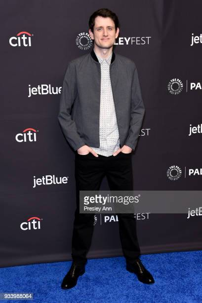 Zach Woods attends PaleyFest Los Angeles 2018 'Silicon Valley' at Dolby Theatre on March 18 2018 in Hollywood California