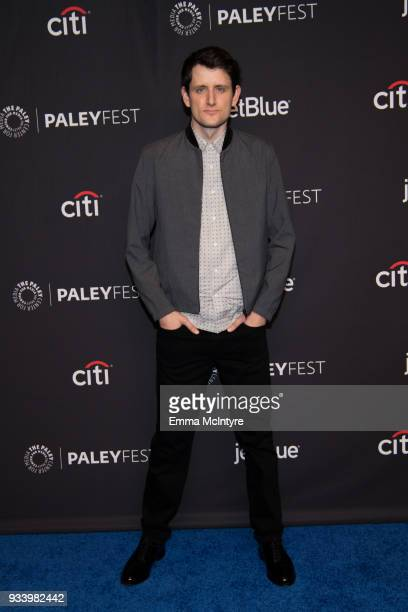 Zach Woods attends the 2018 PaleyFest Los Angeles HBO's 'Silicon Valley' at Dolby Theatre on March 18 2018 in Hollywood California