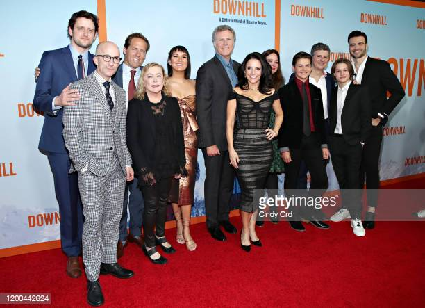 Zach Woods Jim Rash Nat Faxon Zoe Chao Julia LouisDreyfus Will Ferrell Giulio Berruti Ammon Jacob Ford and Julian Grey pose with guests at the...
