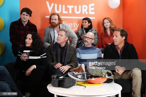 Zach Woods Kristofer Hivju Zoe Chao Miranda Otto Julia LouisDreyfus Will Ferrell Jim Rash and Nat Faxon attend The Vulture Spot presented by Amazon...