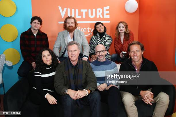 Zach Woods Kristofer Hivju Zoe Chao Miranda Otto Julia LouisDreyfus Will Ferrell Jim Rash and Nat Faxon attend The Vulture Spot presented by Amazon...