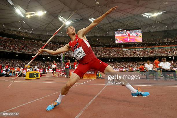 Zach Ziemek of the United States competes in the Men's Decathlon Javelin during day eight of the 15th IAAF World Athletics Championships Beijing 2015...