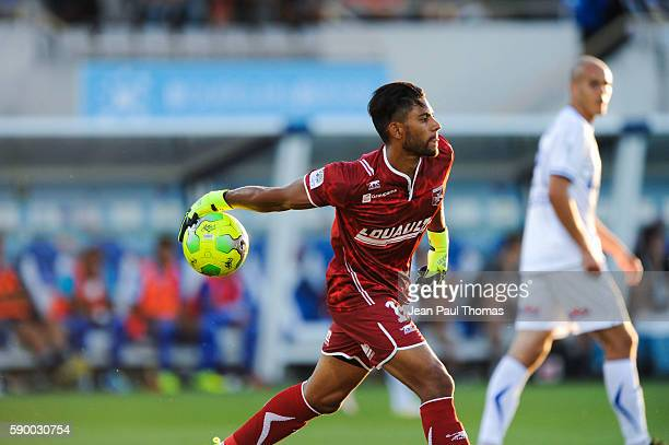Zacharie BOUCHER of Auxerre during the football Ligue 2 between Bourg en Bresse and Aj Auxerre at Stade MarcelVerchere on August 12 2016 in...