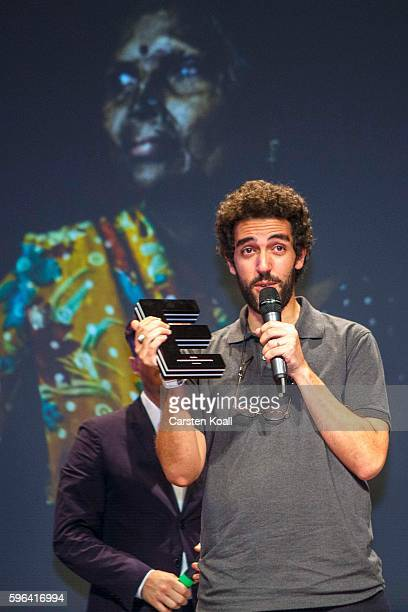 Zacharie Rabehi Photographer of the Year 2016 after he won the prize during the award ceremony of the EyeEm photofestival at Heimathafen Neukoelln on...