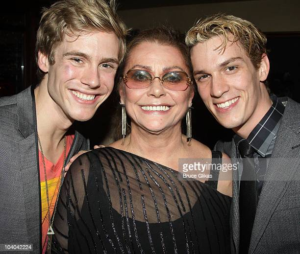 Zachary Booth Elizabeth Ashley and Preston Sadler pose at the Opening Night Afterparty for Edward Albee's Me Myself I at The West Bank Cafe on...