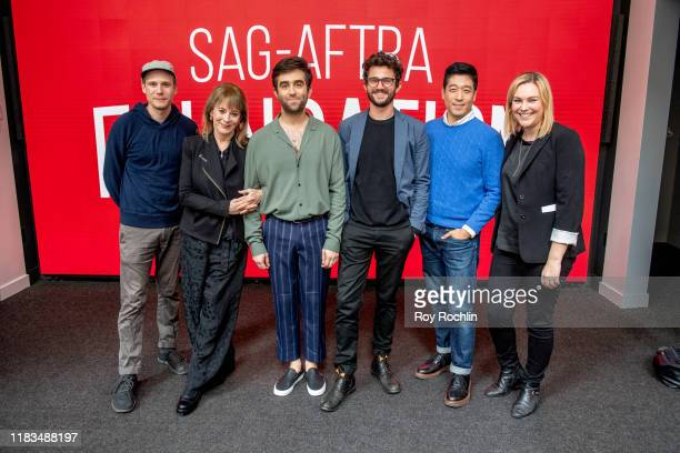 Zachary Booth Patricia Richardson Mark Blane Ben Mankoff Peter Y Kim and moderator Mara Webster attend SAGAFTRA Foundation Conversations Cubby at The...