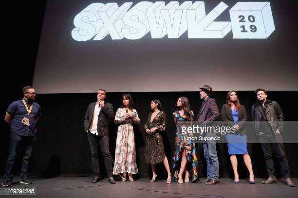 Zachary Cotler, Magdalena Zyzak, Marisol Sacramento, and Carmela Zumbado, Xander Berkeley, Alex Meneses, and Jackson Rathbone speak onstage at The...