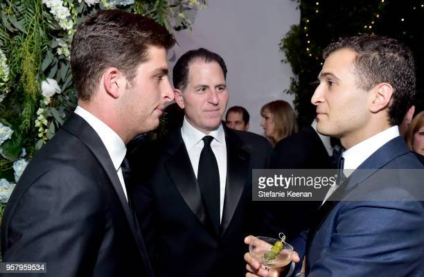 Zachary Dell Michael Dell and William Levine attend Alexa Dell and Harrison Refoua's engagement celebration at Ysabel on May 12 2018 in West...