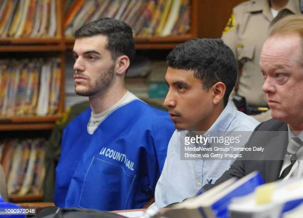 Zachary Frank Leets left and Luis Samaniego Barajas are sentenced to four years on state prison in Torrance on Monday Jan 7 2019 They were sentenced...