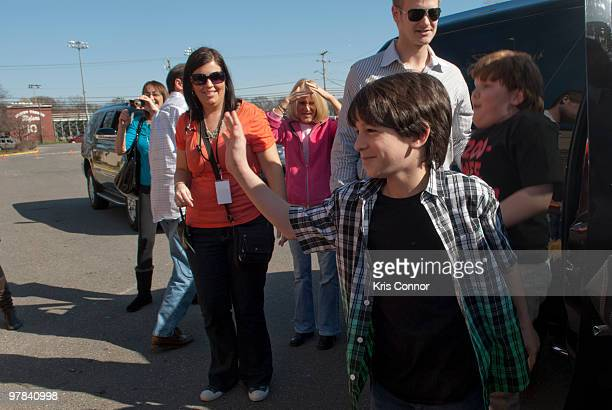 """Zachary Gordon greats students during the premiere of """"Diary Of A Wimpy Kid"""" at on March 18, 2010 in Alexandria, Virginia."""