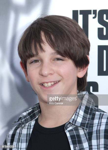 Zachary Gordon poses on the red carpet during the premiere of Diary Of A Wimpy Kid at on March 18 2010 in Alexandria Virginia