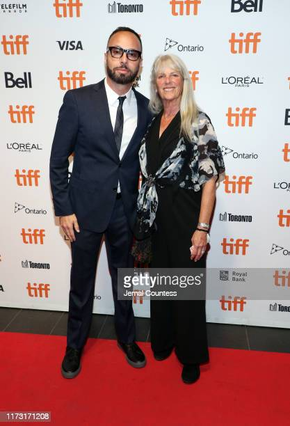 "Zachary Green and Linda Green attend ""The Obituary Of Tunde Johnson"" photo call during the 2019 Toronto International Film Festival at TIFF Bell..."