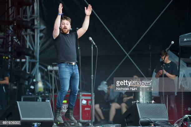Zachary Hannah of the band A R I Z O N A performs onstage during the 2017 Governors Ball Music Festival - Day 2 at Randall's Island on June 3, 2017...