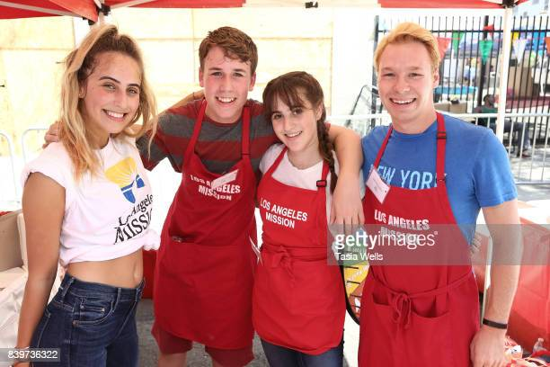 Zachary Haven Maya Jade Frank and Matthew Nardozzi at the Los Angeles Mission's End of Summer Arts and Education Fair at Los Angeles Mission on...