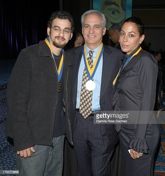 Zachary Hines, Charlie Rutman and Daria Hines during The Young Audiences New York Children's Arts Medal Benefit at Marriott Marquis in New York City,...