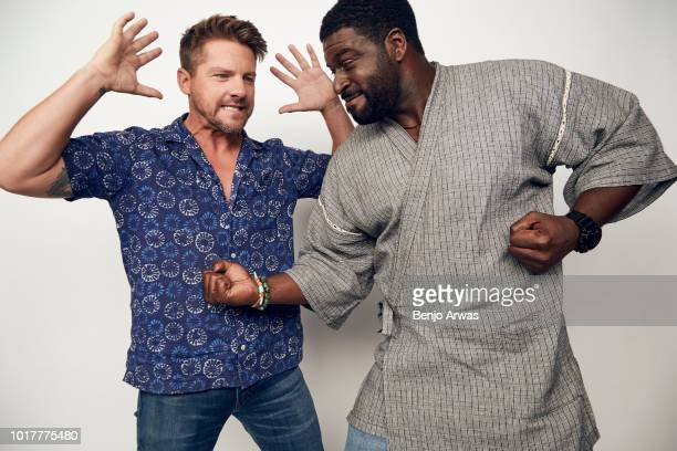 Zachary Knighton and Stephen Hill of CBS's 'Magnum PI' pose for a portrait during the 2018 Summer Television Critics Association Press Tour at The...