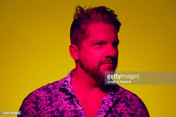 Zachary Knighton from CBS's 'Magnum PI' poses for a portrait in the Getty Images Portrait Studio powered by Pizza Hut at San Diego 2018 Comic Con at...
