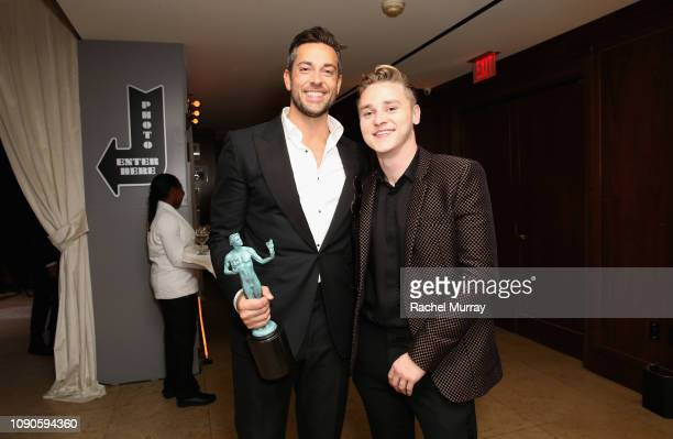 Zachary Levi and Ben Hardy attend Netflix 2019 SAG Awards after party at Sunset Tower Hotel on January 27 2019 in West Hollywood California