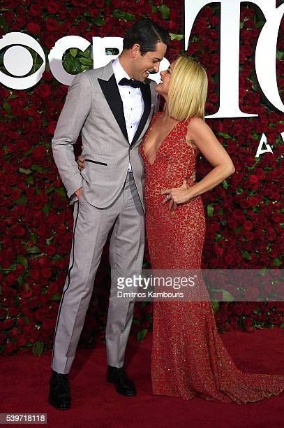 Zachary Levi and Jane Krakowski attend the 70th Annual Tony Awards at The Beacon Theatre on June 12 2016 in New York City