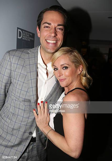 Zachary Levi and Jane Krakowski pose at The 70th Annual Tony Awards Meet The Nominees Press Junket at The Paramount Hotel on May 4 2016 in New York...