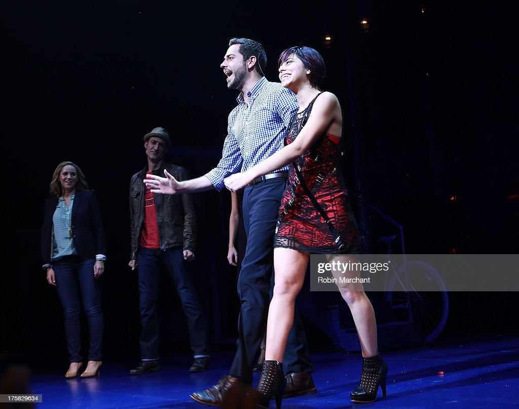 Zachary Levi (L) and Krysta Rodriguez attend 'First Date' Broadway Opening Night at Longacre Theatre on August 8, 2013 in New York City.