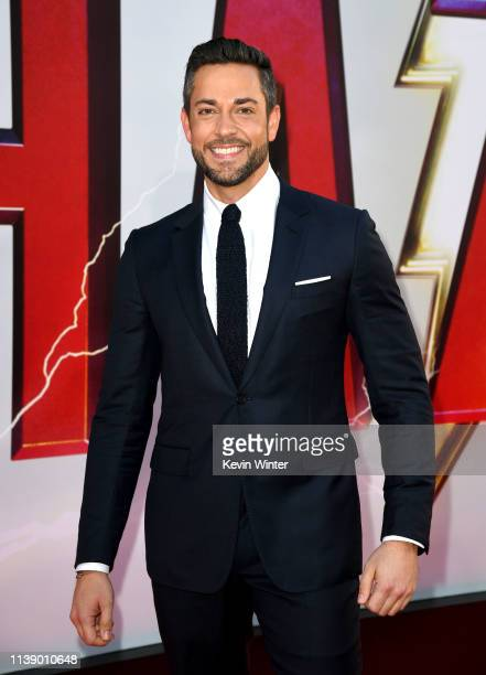 Zachary Levi arrives at the world premiere of Warner Bros Pictures and New Line Cinema's SHAZAM at TCL Chinese Theatre on March 28 2019 in Hollywood...