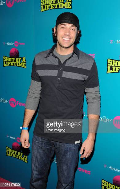 Zachary Levi arrives to the celebrity launch of the TMobile myFaves Shot of a Lifetime sweepstakes during NBA AllStar Weekend in Scottsdale AZ on...